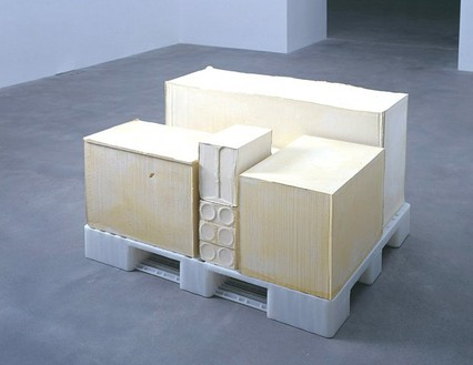 Rachel Whiteread, Tare II, 2005 Plaster and plastic, 27 ¾ × 43 ¼ × 47 ¼ inches (70.5 × 109.9 × 120 cm)