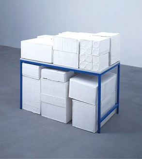 Rachel Whiteread, Garage, 2005 Plaster, painted steel and laminated wood, 44 ½ × 49 × 27 ¼ inches (113 × 126 × 69 cm)