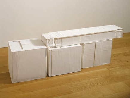Rachel Whiteread, Train Set, 2004 Plaster, 17 1/3 × 52 5/12 × 10 7/12 inches (44 × 133 × 27 cm)