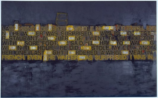 Richard Prince, Untitled (check painting) #15, 2004 Acrylic on canvas, 96 × 156 ¼ inches (243.3 × 96.9 cm)© Richard Prince