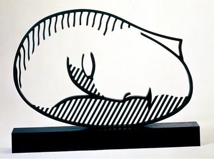 Roy Lichtenstein, Sleeping Muse, 1983 Patinated bronze, 25 ½ × 34 ¼ × 4 inches (64.8 × 87 × 10.2 cm), edition of 6© Estate of Roy Lichtenstein