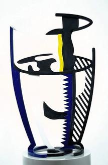 Roy Lichtenstein, Glass II, 1976 Painted bronze, 37 ¾ × 22 × 13 ¾ inches (95.9 × 55.9 × 34.9 cm)© Estate of Roy Lichtenstein