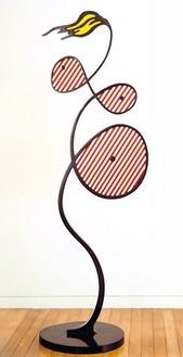 Roy Lichtenstein, Galatea, 1990 Painted bronze, 89 × 32 × 19 inches (226.1 × 81.3 × 48.3 cm)© Estate of Roy Lichtenstein