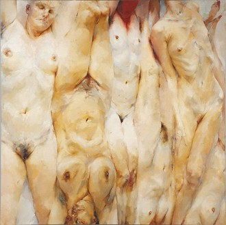 Jenny Saville, Shift, 1996–97 Oil on canvas, 130 × 130 inches (330 × 330 cm)