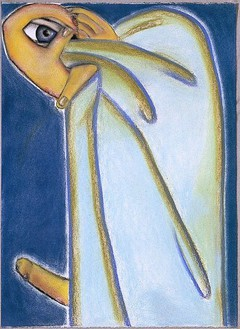Francesco Clemente, Santo, 1994–95 Pastel on paper, 26 ⅜ × 19 inches (67.1 × 48.3 cm)