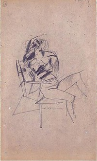 Willem de Kooning, Untitled (#32), 1950–53 Graphite on cardboard, 14 ⅛ × 8 ½ inches (35.9 × 21.6 cm)