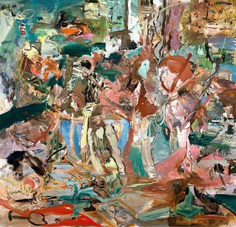Cecily Brown, Angie, 2005 Oil on linen, 86 × 89 inches (218.4 × 226.1 cm)