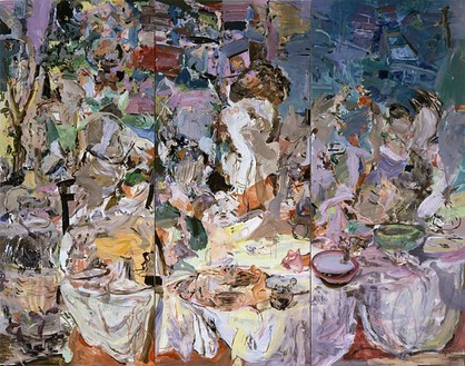 Cecily Brown, The Picnic, 2006 Oil on linen, 3 panels: 97 × 123 inches overall (246.4 × 213.4 cm)