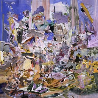 Cecily Brown, The Adoration of the Lamb, 2006 Oil on linen, 78 × 78 inches (198.1 × 198.1 cm)