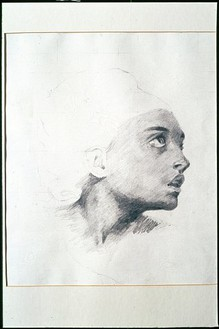 Damien Hirst, Study After Delacroix (the orphan girl in the cemetary), 1981 Pencil on paper, 17 6/8 × 15 ⅜ inches (45.1 × 39.1 cm)