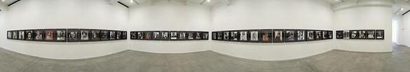 Douglas Gordon: Self-Portraits of You + Me (Bond Girls) Installation view