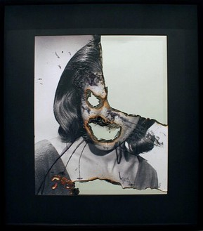Douglas Gordon, Self-Portrait of You + Me (Honor Blackman), 2006 Smoke and mirror, 32-13/16 × 28 ¾ × 2 ¾ inches (83.3 × 73 × 7 cm)