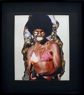 Douglas Gordon, Self-Portrait of You + Me (Gloria Hendry), 2006 Smoke and mirror, 32-13/16 × 28 ¾ × 2 ¾ inches (83.3 × 73 × 7 cm)
