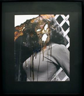 Douglas Gordon, Self-Portrait of You + Me (Madelaine Smith), 2006 Smoke and mirror, 32-13/16 × 28 ¾ × 2 ¾ inches (83.3 × 73 × 7 cm)