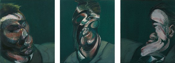 Francis Bacon, Three Studies for a Portrait Including Self-Portrait, 1967 Oil on canvas, 3 panels: 14 × 12 inches each (35.5 × 30.5 cm)© The Estate of Francis Bacon 2006