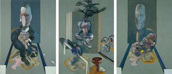 FRANCIS BACON Triptych, 1976 Oil on canvas 3 panels: 78 × 58 inches each (198.1 × 147.3 cm) © The Estate of Francis Bacon 2006 *This work is not for sale