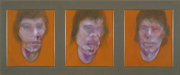 Francis Bacon, Three Studies for a Portrait (Mick Jagger), 1982 Oil on canvas, 3 panels: 14 × 12 inches each (35.5 × 30.5 cm)© The Estate of Francis Bacon 2006