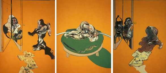 FRANCIS BACON Triptych—Studies from the Human Body, 1970 Oil on canvas 3 panels: 78 × 58 inches each (198.1 × 147.5 cm) © The Estate of Francis Bacon 2006 *This work is not for sale