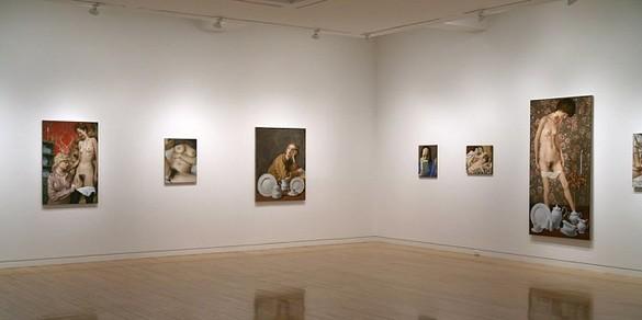 John Currin Installation view
