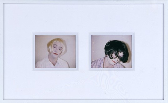 Douglas Gordon, Staying home (18.06) and going out (21.06), 2005 Two Polaroid prints, 8 ½ × 14 ½ inches (21.6 × 36.8 cm)