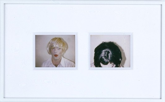 Douglas Gordon, Staying home (18.19) and going out (21.19), 2005 Two Polaroid prints, 8 ½ × 14 ½ inches (21.6 × 36.8 cm)