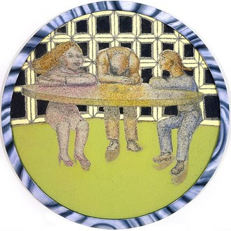 Richard Artschwager, Some People, 2004 Acrylic on fiber panel in artist's frame, 51 ¼ inches in diameter (130.2 cm)