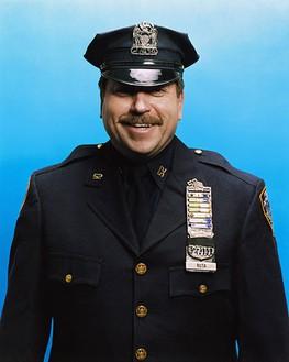 Roe Ethridge, NYPD Officer Damon Ruta (Ret.), 2006 Chromogenic print, 40 × 32 ½ inches (101.6 × 82.6 cm), edition of 5