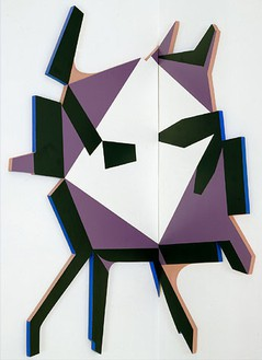 Richard Artschwager, Splatter Table, 2005 Formica and acrylic on wood, 45 × 42 × 1 inches (114.3 × 106.7 × 2.5 cm)