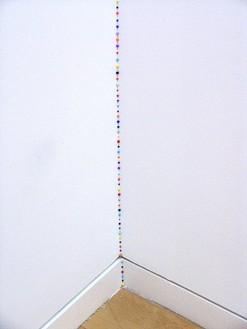 Tom Friedman, Untitled, 1997 Colored Styrofoam pellets, Dimensions variable