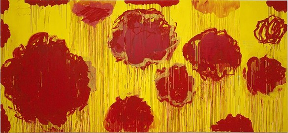 Cy Twombly, Untitled, 2007 Acrylic, wax crayon, pencil on wood, 99 3/16 × 217 5/16 inches (252 × 552cm)