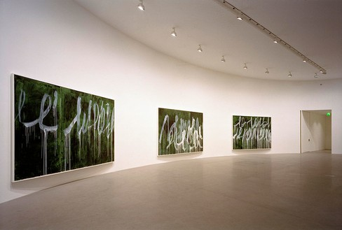 Installation view Artworks © Cy Twombly Foundation, photo by Luigi Filetici