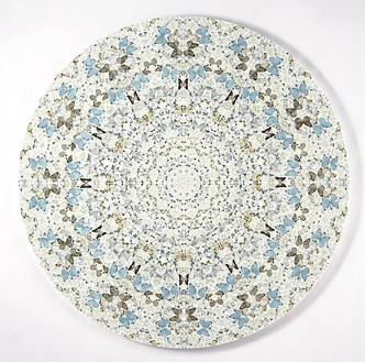 Damien Hirst, Sympathy in White Major—Absolution II, 2006 Butterflies and household gloss on canvas, diameter: 84 inches (213.4 cm)© Damien Hirst