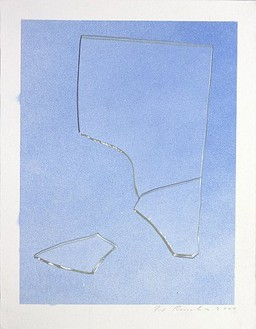 Ed Ruscha, Shattered Glass #2, 2007 Acrylic on museum board paper, 12 ¼ × 9 ⅜ inches (31.1 × 23.8 cm)