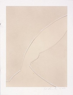 Ed Ruscha, Cracked, 2007 Acrylic on museum board paper, 12 ¼ × 9 ⅜ inches (31.1 × 23.8 cm)