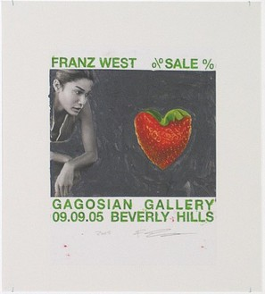 Franz West, Poster Design (SALE, Gagosian Beverly Hills) IV, 2005 Collage mounted on board, 25 ⅜ × 23-13/16 inches (64.5 × 60.4 cm)