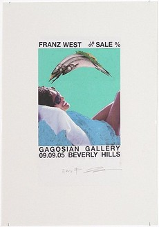 Franz West, Poster Design (SALE, Gagosian Beverly Hills) V, 2005 Collage mounted on board, 29 ⅝ × 21-11/16 inches (75.2 × 55.1 cm)