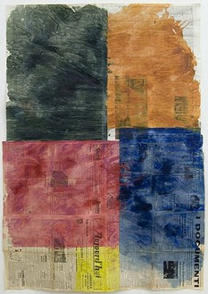 Gabriel Vormstein, Untitled, 2006 Watercolor and gouache on newspaper, 64 × 44 inches (162.6 × 111.8cm)