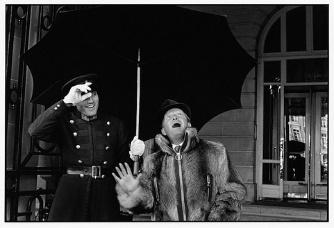 François-Marie Banier, Truman Capote, Place Vendôme, Paris, octobre 1968, 2006 B & W photograph, 11-13/16 × 15-11/16 inches (40 × 30 cm), edition of 7