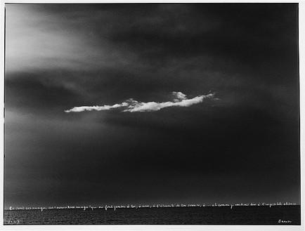 François-Marie Banier, Les merveilleux nuages, 2007 Ink on b & w photograph, 19-11/16 × 23 ⅝ inches (50 × 60 cm)
