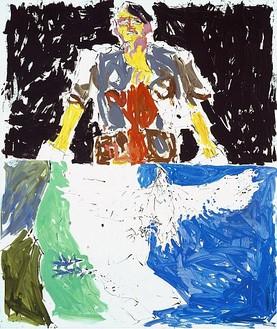 Georg Baselitz, Adler 53 - Held 65 (Remix), 2007 Oil on canvas, 118 ⅛ × 98 ⅜ inches (300 × 250cm)