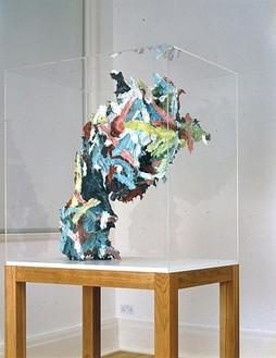 Glenn Brown, Life is Empty and Meaningless, 2005 Oil on plaster, 32 ½ × 30 × 17 inches (82.6 × 76.2 × 43.2 cm)