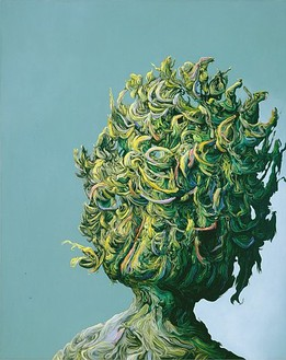 Glenn Brown, Deep Throat, 2007 Oil on panel, 59-13/16 × 48 inches (152 × 122 cm)