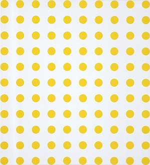 Damien Hirst, Formic Acid Ethyl Ester, 2007 Household gloss paint on canvas, 21 × 19 inches (53.3 × 48.3 cm)