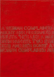 Richard Prince, The Red Joke, 2003 Acrylic on canvas, 70 × 50 inches (177.8 × 127 cm)