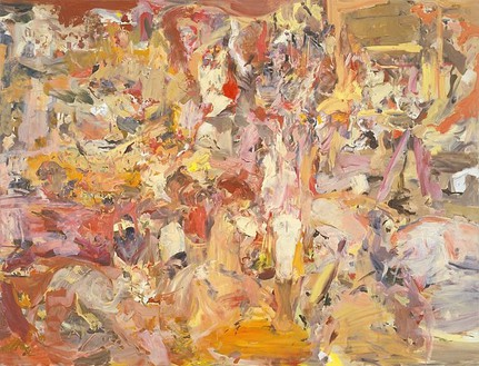 Cecily Brown, Oh Marie!, 2007 Oil on canvas, 65 ¼ × 85 ¼ inches (165.7 × 216.5 cm)