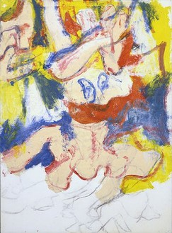 Willem de Kooning, Untitled, 1979 Oil and charcoal on paper laid down on canvas, 41 ¼ × 30 inches (104.8 × 76.2 cm)