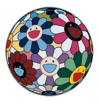 Takashi Murakami, Flowerball (Flower Dumpling), 2006 Acrylic on canvas mounted on board, 23 ⅝ inches diameter (60 cm diameter)© 2007 Takashi Murakami/Kaikai Kiki Co., Ltd. All Rights Reserved