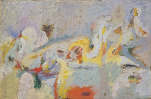 Arshile Gorky, From a High Place, 1947 Oil on canvas, 18 ¾ × 28 inches (47.6 × 71.1 cm)