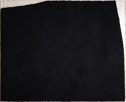 Richard Serra, Videy, 1991 Paintstick on paper, 68 ¾ × 86 ½ inches (174.6 × 219.7 cm)