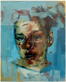 Jenny Saville, Untitled (Stare Study), 2005 Oil on watercolour paper, 59 4/5 × 47 4/5 inches (152 × 121.5 cm)